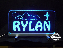 "Personalized LED Desk Table Sign - 11.375"" x 6"" Night Light, Lamp, Kids - $94.05"