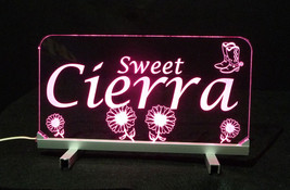 "LED Desk Table Sign, Personalized - 11.375"" x 6"" Night Light, Lamp, Kids - $90.00"