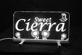 """LED Desk Table Sign, Personalized - 11.375"""" x 6"""" Night Light, Lamp, Kids image 7"""
