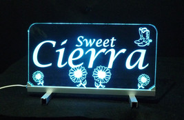 """LED Desk Table Sign, Personalized - 11.375"""" x 6"""" Night Light, Lamp, Kids image 3"""