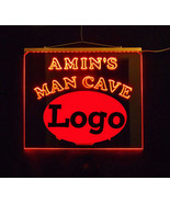 Personalized Man Cave Bar Custom LED Sign,  sports, Logo Multicolor Chan... - $155.00