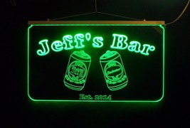 Personalized LED Bar Sign Pub Sign with Beer Cans Handmade Multicolor Ch... - $140.00