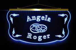 Personalized Wedding, Anniversary Acrylic Sign LED Color Changing, Custom - $140.00