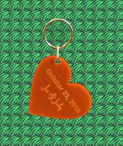 Personalized Heart Shaped Keychain, Laser Engra... - $7.20