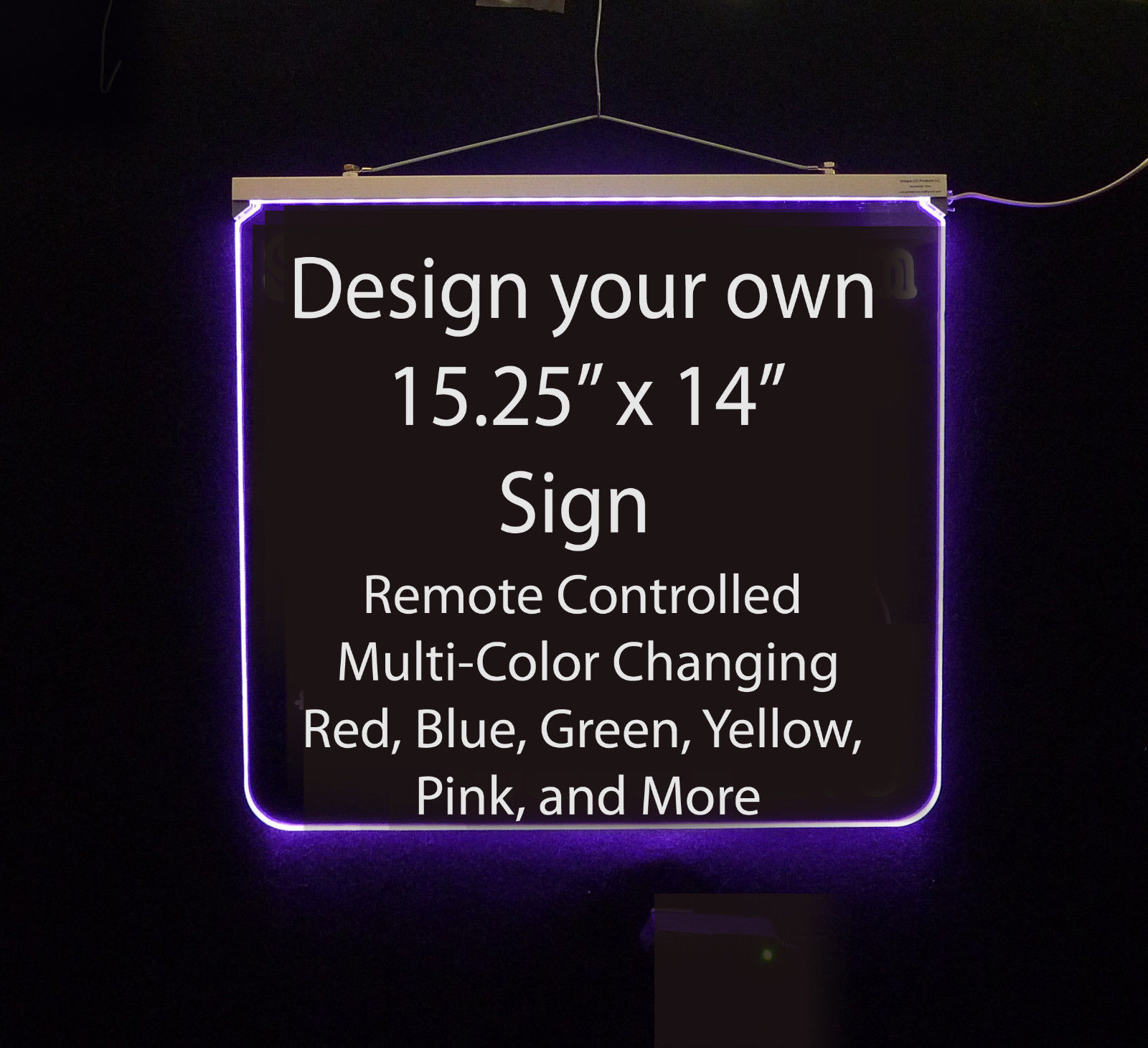 "Personalized LED Sign, 15.25"" x 14"" design your own sign"