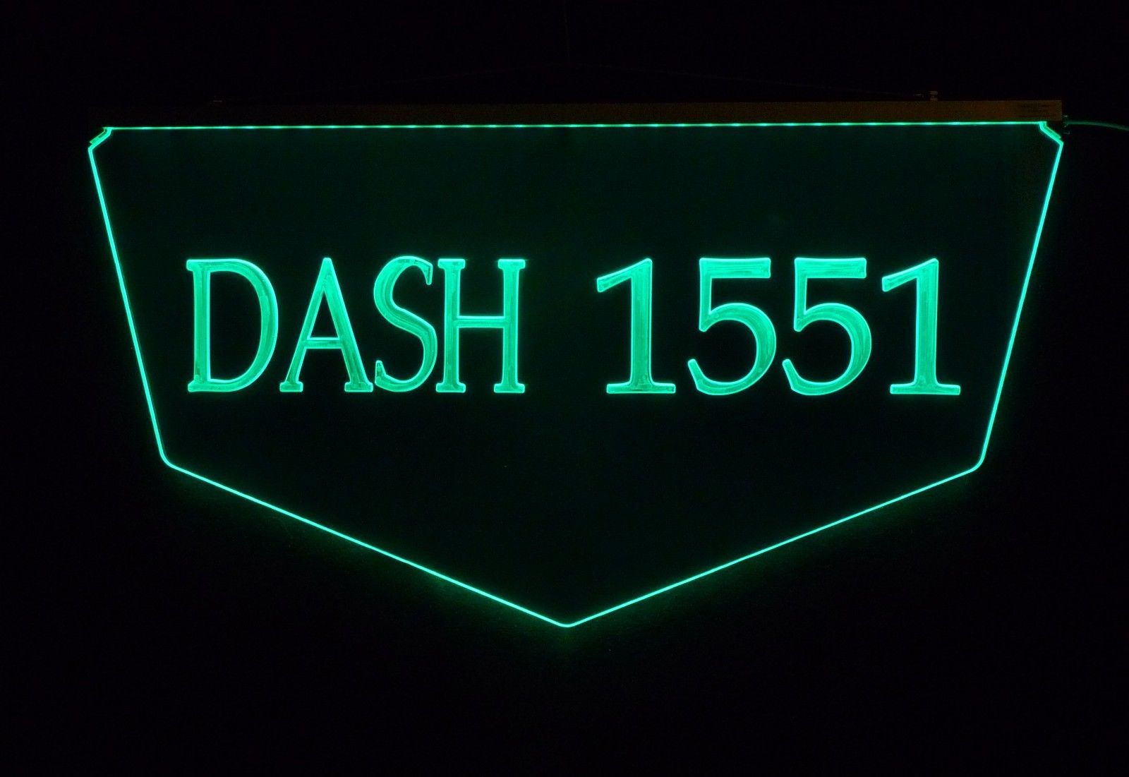 Personalized Custom Lighted Street Address LED Window Sign