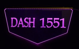 Personalized Custom Lighted Street Address LED Window Sign image 2