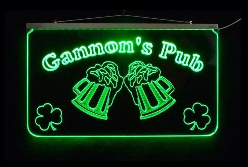 LED Personalized Bar Sign, Man Cave Sign, Family Name Sign, -Gift