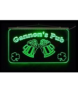 LED Personalized Bar Sign, Man Cave Sign, Family Name Sign, -Gift - $140.00