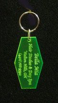 Custom Acrylic Laser Engraved Keychains, Key Ta... - $8.00