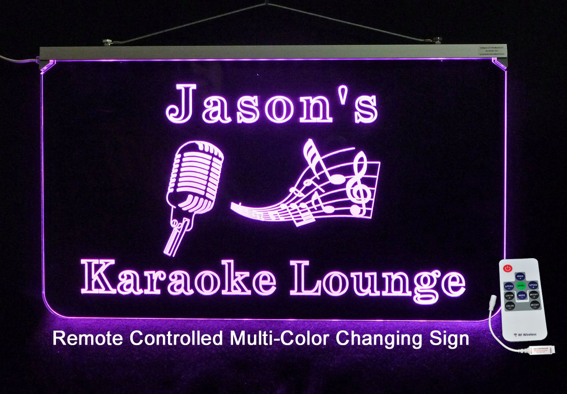 Primary image for Karaoke Personalized LED Sign - Custom LED Sign - Music, Microphone, Bar Sign