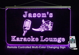 Karaoke Personalized LED Sign - Custom LED Sign - Music, Microphone, Bar... - $140.00