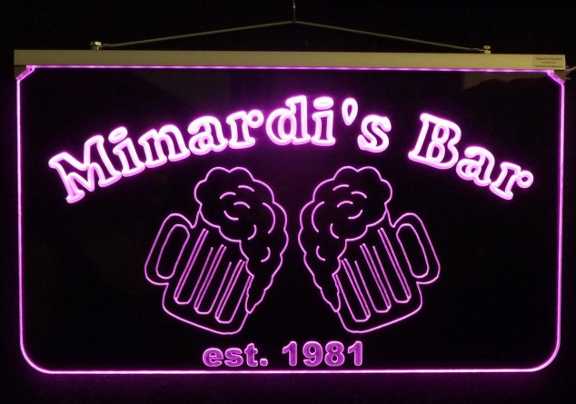Personalized LED Bar/Pub Sign, Design your own Sign