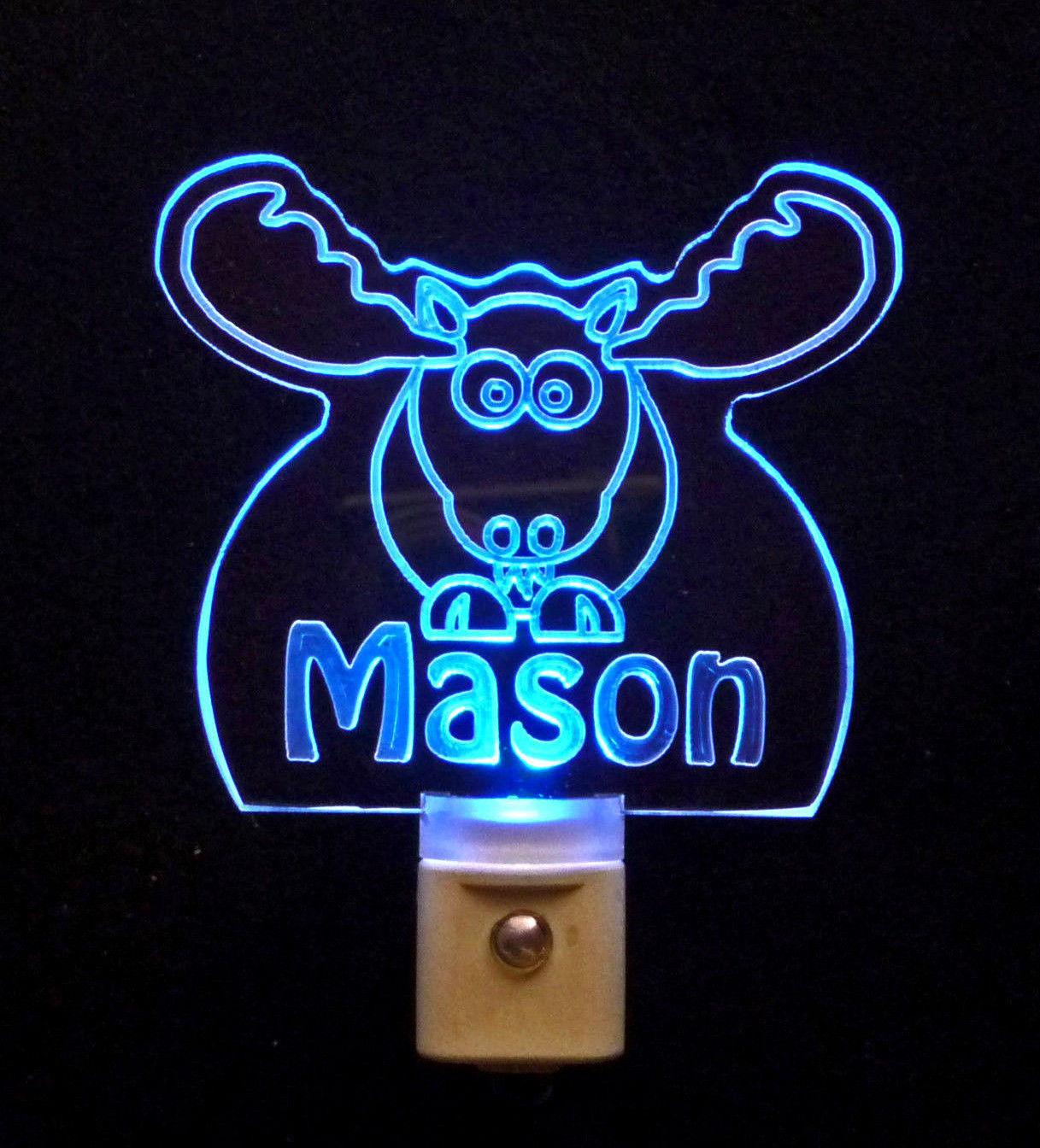 Personalized Moose Elk LED Night Light *Or Design your own Light, Animal Lamp
