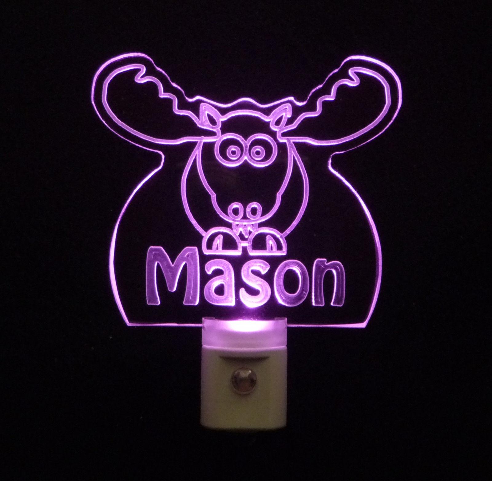Personalized Moose Elk LED Night Light *Or Design your own Light, Animal Lamp image 5