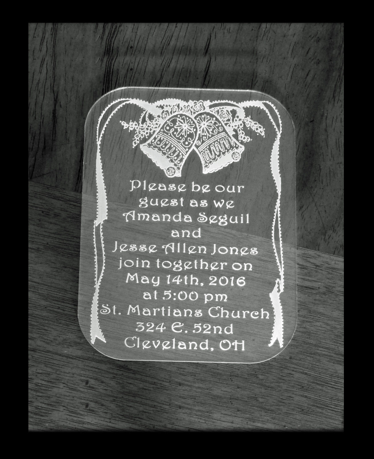 Personalized Acrylic Wedding Invitations, Special Event Invitations image 2