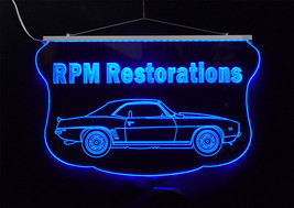 Personalized LED Sign, 1969 Camaro Sign, Man Cave, Garage Sign, Antique Car - $140.00