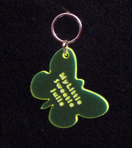 Personalized Laser Engraved Butterfly Keychain,... - $7.20