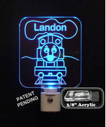 Personalized Children's Thomas the Train, handmade baby nursery light - $24.00