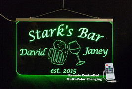 Personalized Bar Sign, Anniversary gift, Name sign, Wedding Gift, multi-... - $142.00