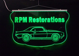 Personalized LED Sign, 1969 Camaro Sign, Man Cave, Garage Sign, Antique Car image 2