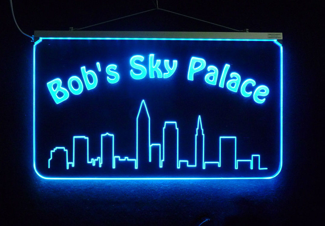 Personalized Bar Sign, Man Cave Sign, Family Name Sign LED, Handmade, Edge Lit