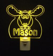 Personalized Moose Elk LED Night Light *Or Design your own Light, Animal Lamp image 2