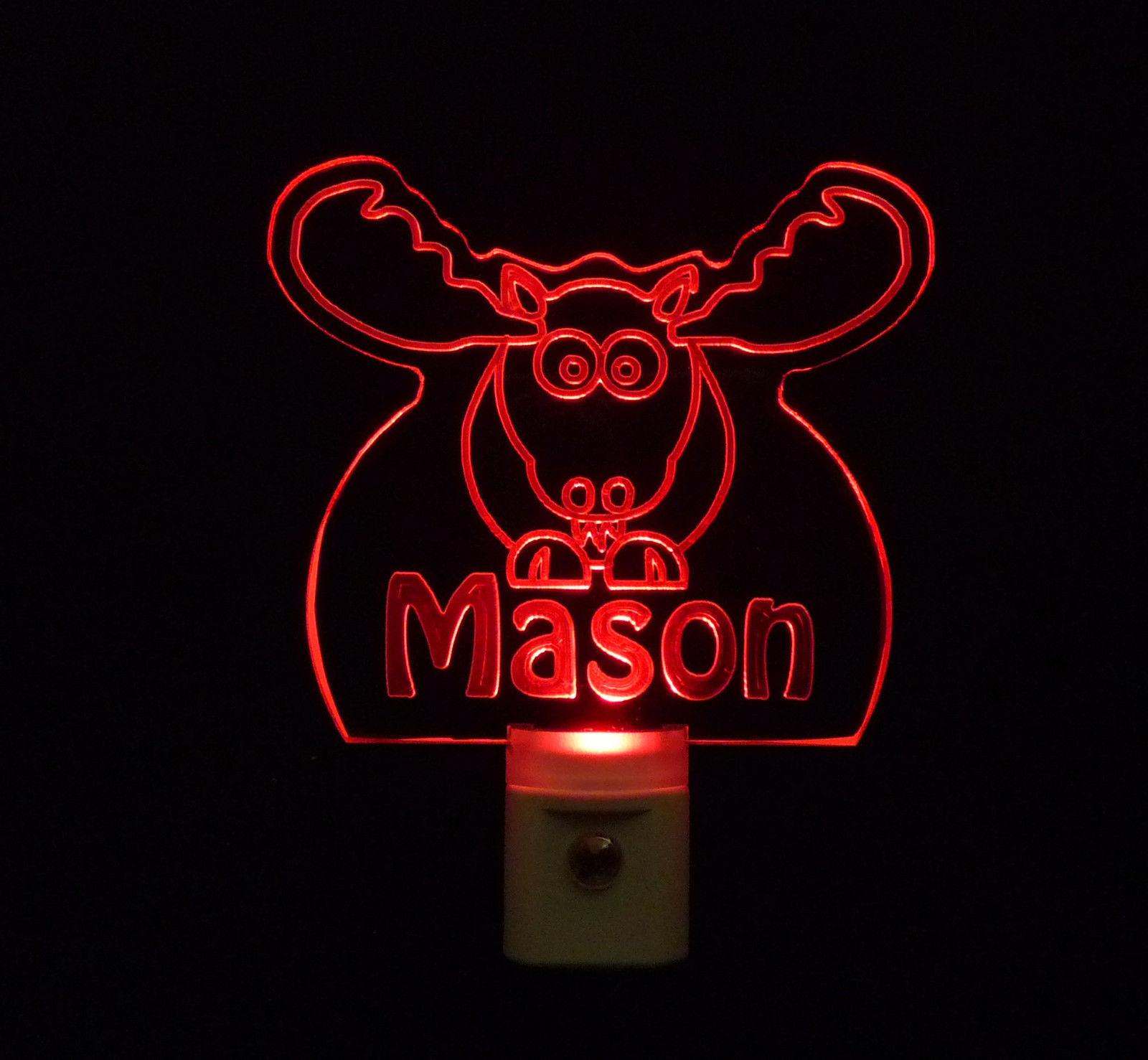 Personalized Moose Elk LED Night Light *Or Design your own Light, Animal Lamp image 6