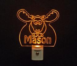 Personalized Moose Elk LED Night Light *Or Design your own Light, Animal Lamp image 3
