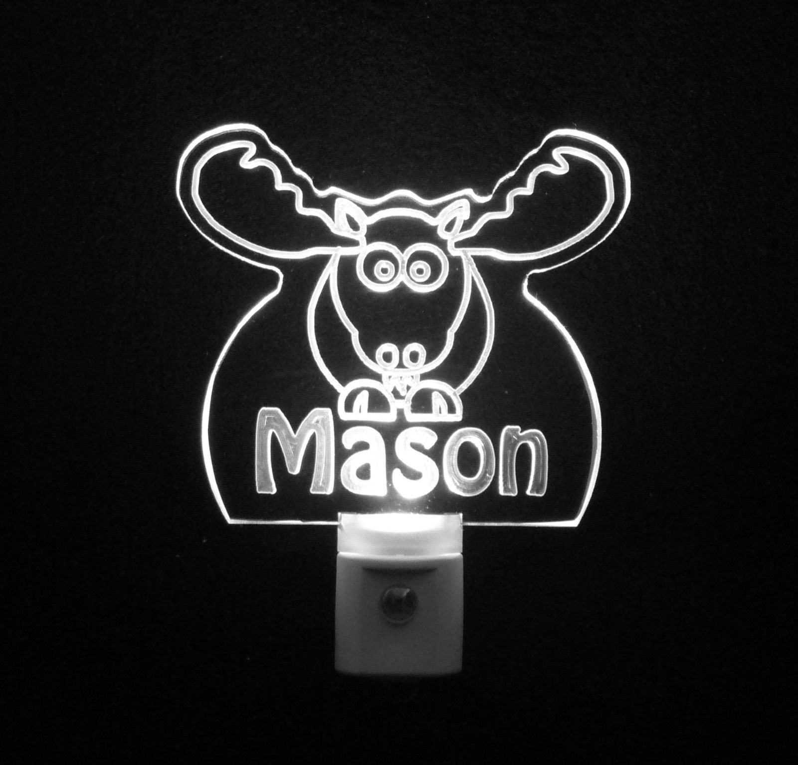Personalized Moose Elk LED Night Light *Or Design your own Light, Animal Lamp image 7