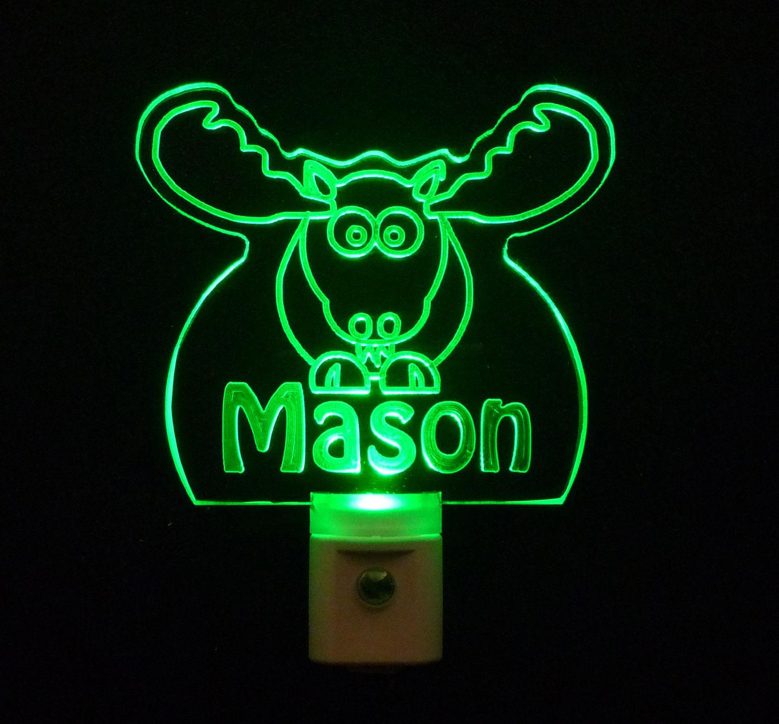Personalized Moose Elk LED Night Light *Or Design your own Light, Animal Lamp image 4