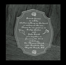Personalized Acrylic Wedding Invitations, Special Event Invitations image 4