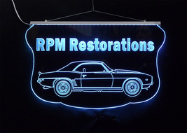 Personalized LED Sign, 1969 Camaro Sign, Man Cave, Garage Sign, Antique Car image 3