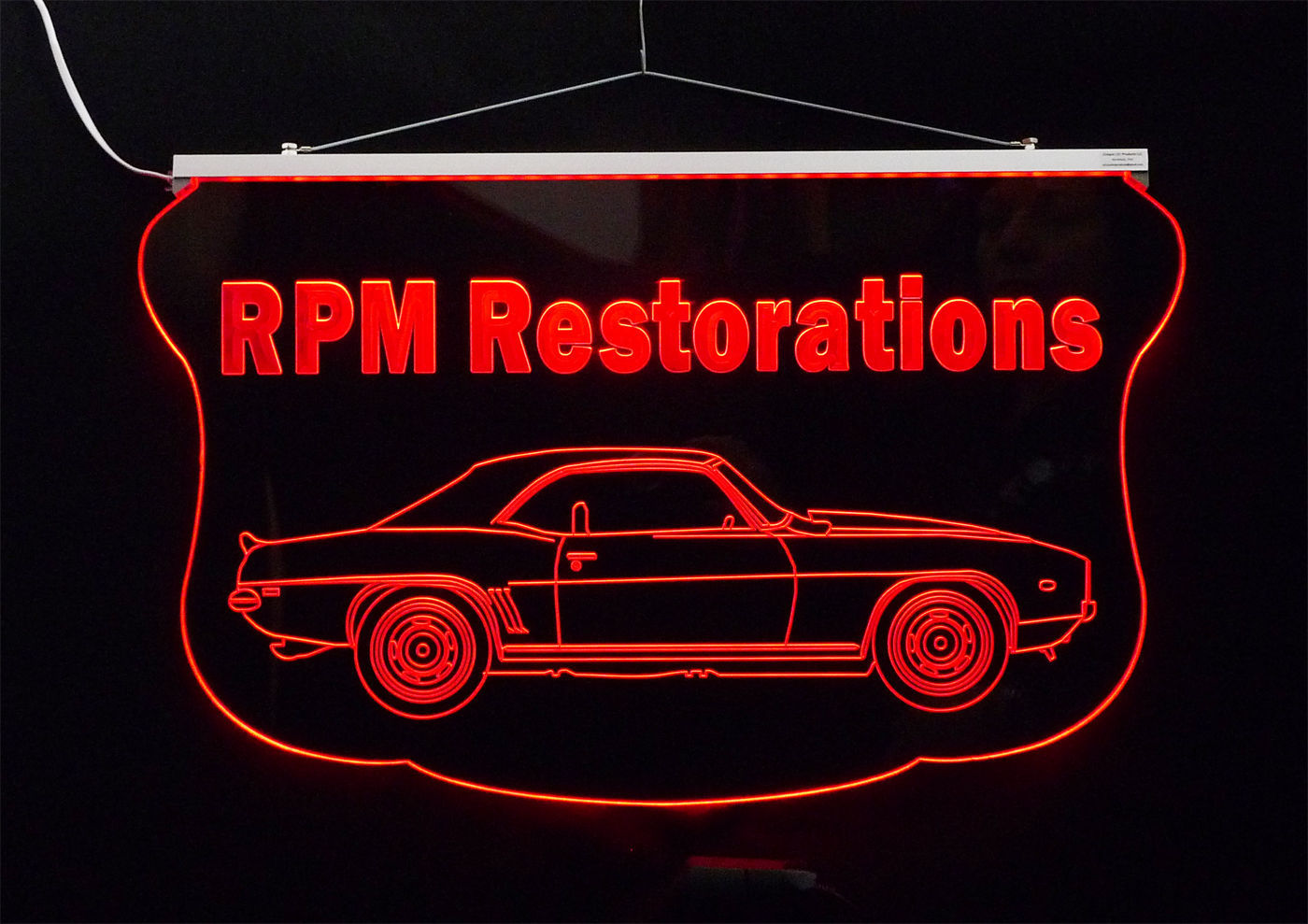 Personalized LED Sign, 1969 Camaro Sign, Man Cave, Garage Sign, Antique Car