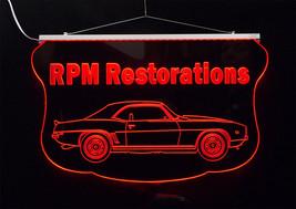 Personalized LED Sign, 1969 Camaro Sign, Man Cave, Garage Sign, Antique Car image 4