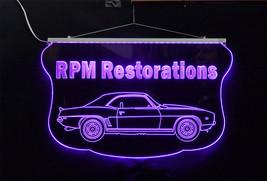Personalized LED Sign, 1969 Camaro Sign, Man Cave, Garage Sign, Antique Car image 5