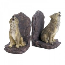 Howling Wolf Bookends - $27.39