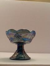 Indiana Glass Blue Iridescent Grape/Vine/Leaf P... - $7.25