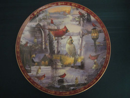 CARDINAL collector plate WINTER DUET Sam Timm DANBURY MINT & WILD WINGS ... - $63.20