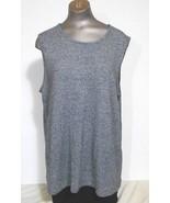 Style & Co Women size 2X Black & White Scoop Neck   Sleeveless Knit  Top - $11.72