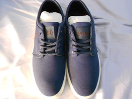 Ralph Lauren POLO Navy Canvas Sneakers(Faxon)   Size: 11.5D  New in box - $81.41 CAD