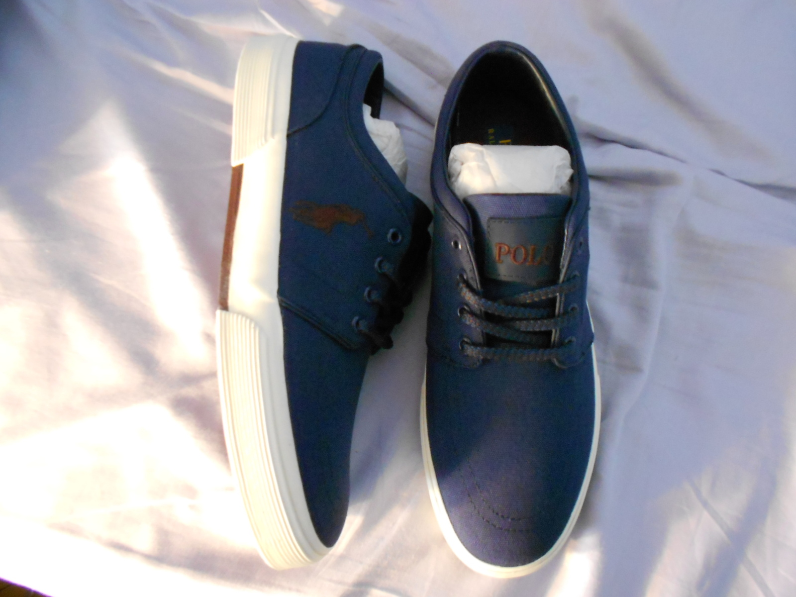Ralph Lauren POLO Navy Canvas Sneakers(Faxon)   Size: 11.5D  New in box
