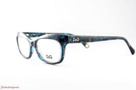Dolce & Gabbana Damen Brille D&G1232 2251 Blau Marmor Rechteckig Rahmen 53mm - $87.21