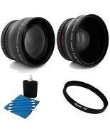 TelePhoto lens + Wide + UV Bundle For Panasonic HC-V710 HC-V720 HC-V730 ... - $35.95
