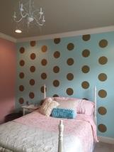 """8"""" Metallic Gold Polka Dot Wall Decals / Polka Dot Wall Decals/Circle Wall Decal - $32.00+"""