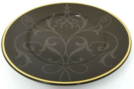 "Holiday 08 Snowfall Splendor Brown w/ Taupe Vine Leaves 8"" Salad Plate  - $24.98"