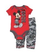 MICKEY MOUSE Boys Newborn 2PC Set 0/3 months free shipping - $16.00