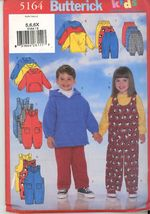 Butterick 5164 Kids Top Jumpsuit and Pants Sewing Pattern Size 5,6,6x Ne... - $2.00
