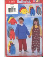 Butterick 5164 Kids Top Jumpsuit and Pants Sewing Pattern Size 5,6,6x Ne... - $5.50
