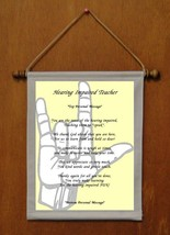Hearing Impaired Teacher - Personalized Wall Hanging (917-1) - $19.99